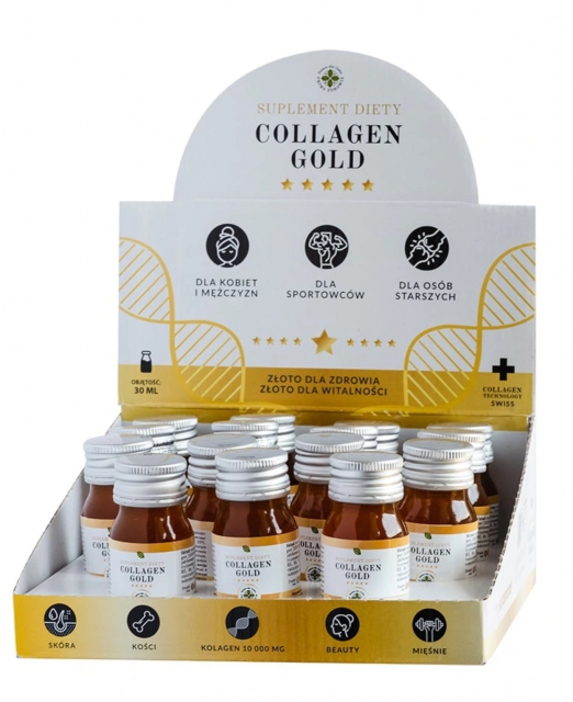 Kolagen - Collagen Gold Shot 30 ml pakiet 30 szt